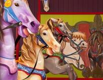 Karussell-Pferde Lizenzfreies Stockfoto