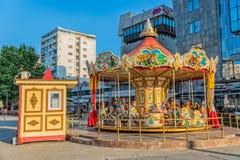 Karussell in Skopje lizenzfreie stockfotografie