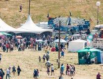 Karussellfahrten und Rozhen-Festival 2015 in Bulgarien Lizenzfreie Stockfotos