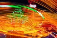 Karussells nachts Lizenzfreie Stockfotografie