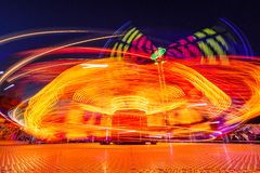 Karussells nachts Stockbild