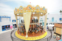 Karuzela (carousel) w Santorini parku, Tajlandia Obrazy Stock