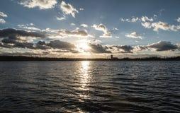 Karvinske więcej rezerwat wodny w Karvina mieście w republika czech zdjęcia stock