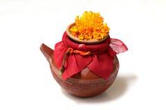 karwa een kleine die pot van modder wordt gemaakt Stock Foto