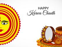 Karwa feliz Chauth Imagens de Stock Royalty Free