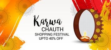 Karwa feliz Chauth Fotos de Stock