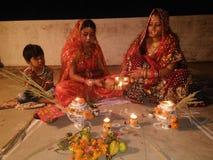 Karwachauth royaltyfri foto