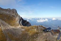 Karwendel山顶驻地 库存照片