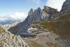 Karwendel山顶驻地 库存图片
