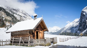 Karwendel. Old chapel at the karwendel mountains in austria - eng alm Royalty Free Stock Photography