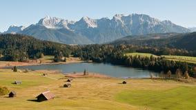 Karwendel-massief bergen stock fotografie