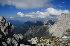 Karwendel mountain in alps Royalty Free Stock Image