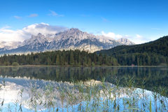 Karwendel mountain range and Lautersee lake Royalty Free Stock Photo