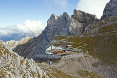 Karwendel summit station Stock Images