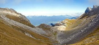 Karwendel summit station Royalty Free Stock Photography