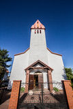 Karwia church. White church with a red roof Royalty Free Stock Photography