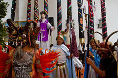 Karwoche-Masse des Ruhmes in Alangasi, Ecuador Lizenzfreies Stockfoto