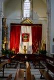 Karwoche in Spanien, Bilder von Jungfrauen und Darstellungen von Chr Stockbild