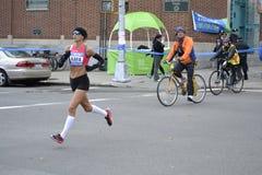 Kary Goucher biegacza NYC maraton Fotografia Royalty Free