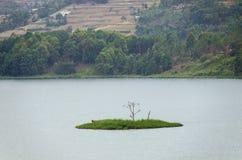Kary wyspa na Jeziornym Bunyonyi Obrazy Stock