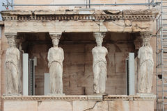 Karyatidesl in Athen, Griechenland Stockfoto