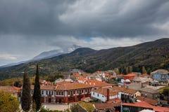 Karyes auf dem Mount Athos stockfotos