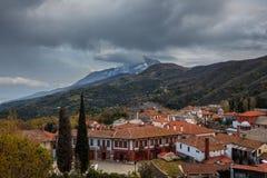 Karyes auf dem Mount Athos lizenzfreies stockfoto