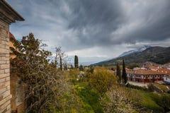 Karyes no Monte Athos imagens de stock