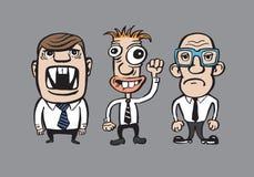 Karykatura biznesmenów drużyna Zdjęcia Royalty Free