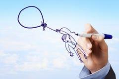 Karykatura biznesmen Fotografia Stock