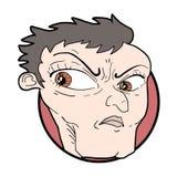 Karykatura gniewny mężczyzna Obraz Royalty Free