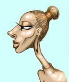 Karykatura kobieta profil Obrazy Stock