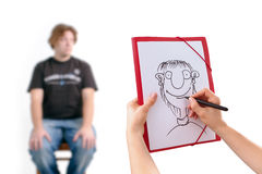 karykatura mężczyzna zdjęcie royalty free