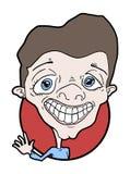 Karykatura mężczyzna z sfałszowanym uśmiechem Obrazy Stock