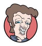 Karykatura przystojny mężczyzna Fotografia Royalty Free