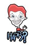 Karykatura szczęśliwy mężczyzna Obraz Stock