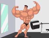 Karykatury bodybuilder Zdjęcie Royalty Free