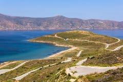 Karystos, Euboea, Grecia Fotos de archivo libres de regalías