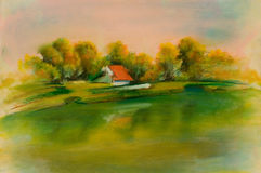 Krajobrazy, sztuka produkt Obrazy Royalty Free