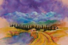 Krajobrazy, sztuka produkt Obraz Royalty Free
