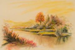 Krajobrazy, sztuka produkt Zdjęcie Royalty Free