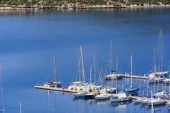 Kas小游艇船坞海湾在土耳其 免版税库存照片