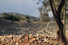 Kas希腊文化的剧院  免版税库存图片