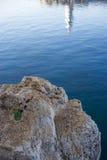 Отражение маяка Kas, Турция Стоковые Изображения RF