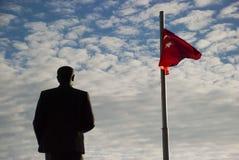 Kas Antalya, Turkiet Maj 5, 2017: Staty av Ataturk i Kas Antalya Turkey arkivbild