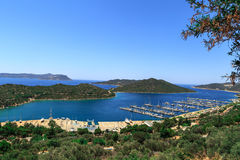 Kas Marina View Image stock