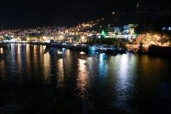 Kas Night. La Turchia fotografia stock libera da diritti
