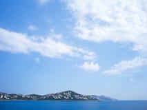 Kas Peninsula unter bewölktem Himmel Stockbilder