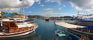 Kas Ships i Lycia Turkey Arkivbilder
