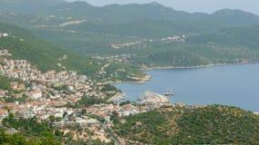 Kas, Turkey, turkish mainland and Meis Island, Greece stock video